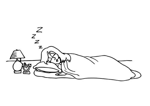 Dibujo para colorear 016b. Dormir