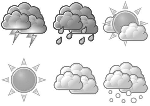 Dibujo para colorear 02 - símbolos meteorológicos