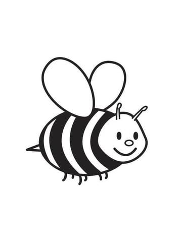 El arte de ensear Colorear abejas