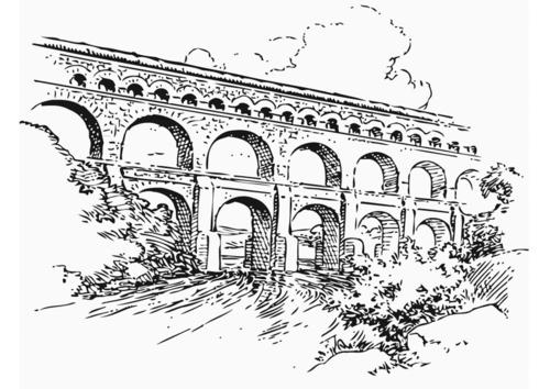 Dibujo para colorear Acueducto