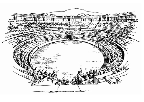 Dibujo para colorear Anfiteatro