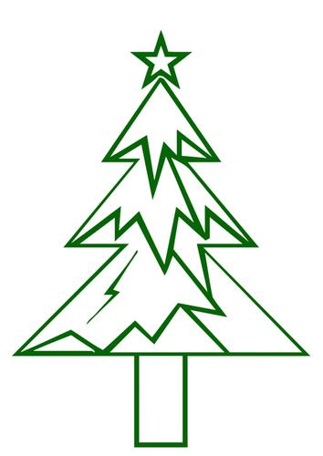 Imagen árbol de navidad con estrella de navidad