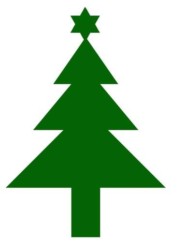Imagen árbol de navidad con estrella