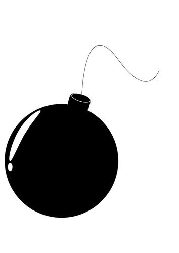 Dibujo para colorear bomba