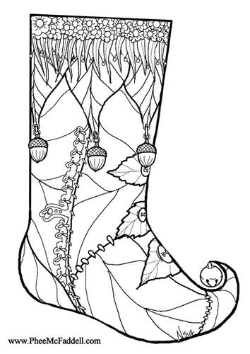 Dibujo para colorear Calcetín de navidad