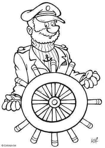 Dibujo para colorear Capitán