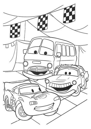 Dibujo para colorear Cars