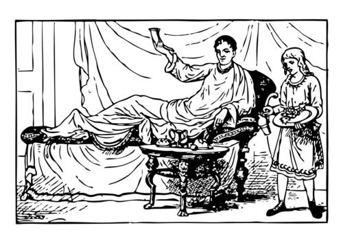 Dibujo para colorear cena romana