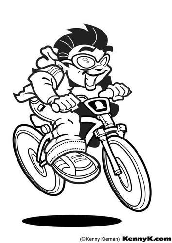 Dibujo para colorear Ciclista
