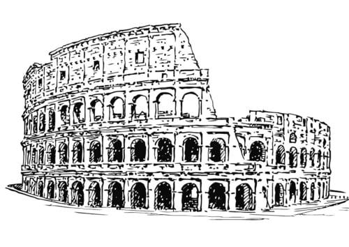 Dibujo para colorear Coliseo