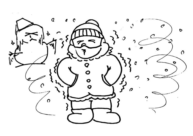 Dibujo para colorear 013b. Frío - invierno - Img 12204