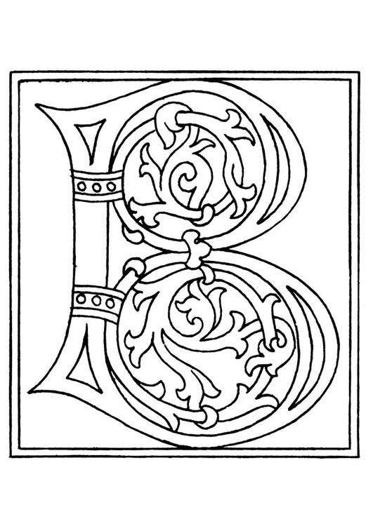 Dibujo Para Colorear 01a Alfabeto B Img 11211