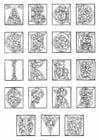 Dibujo para colorear 01a. alfabeto de finales del siglo XV