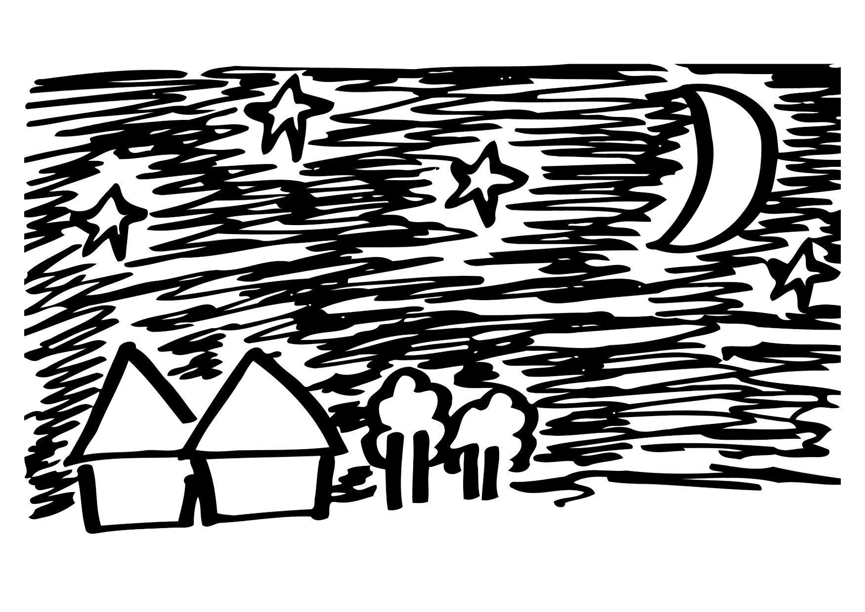 Atractivo Dibujo Nocturno Para Colorear Fotos - Dibujos Para ...