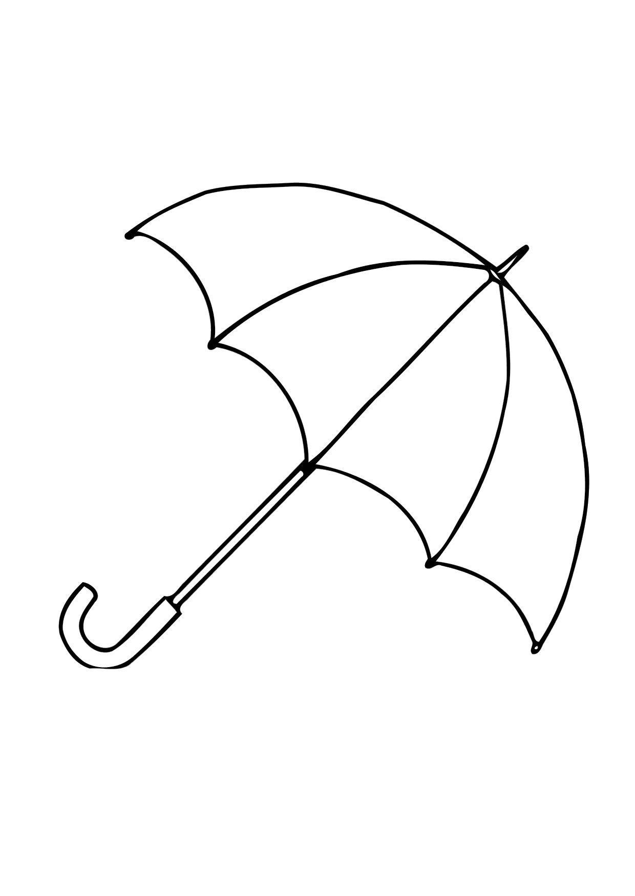 Dibujo para colorear 01b. Paraguas   abierto   Img 12286