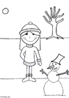 Dibujo para colorear 07b. Invierno