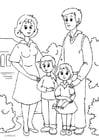 Dibujo para colorear 1. familia