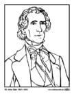 Dibujo para colorear 10 John Tyler