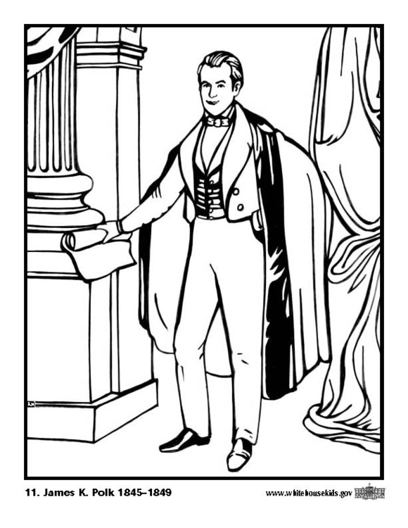 Dibujo para colorear 11 James K. Polk