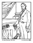 Dibujo para colorear 15 James Buchanan