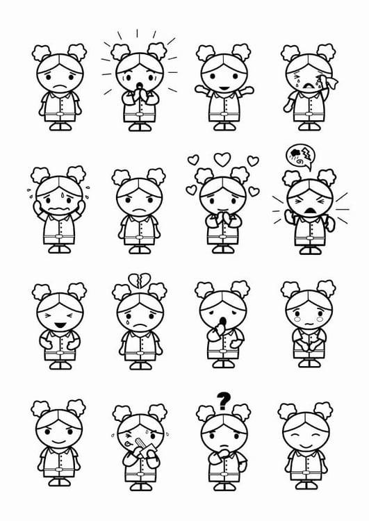 Dibujo Para Colorear 16 Emociones Img 23986