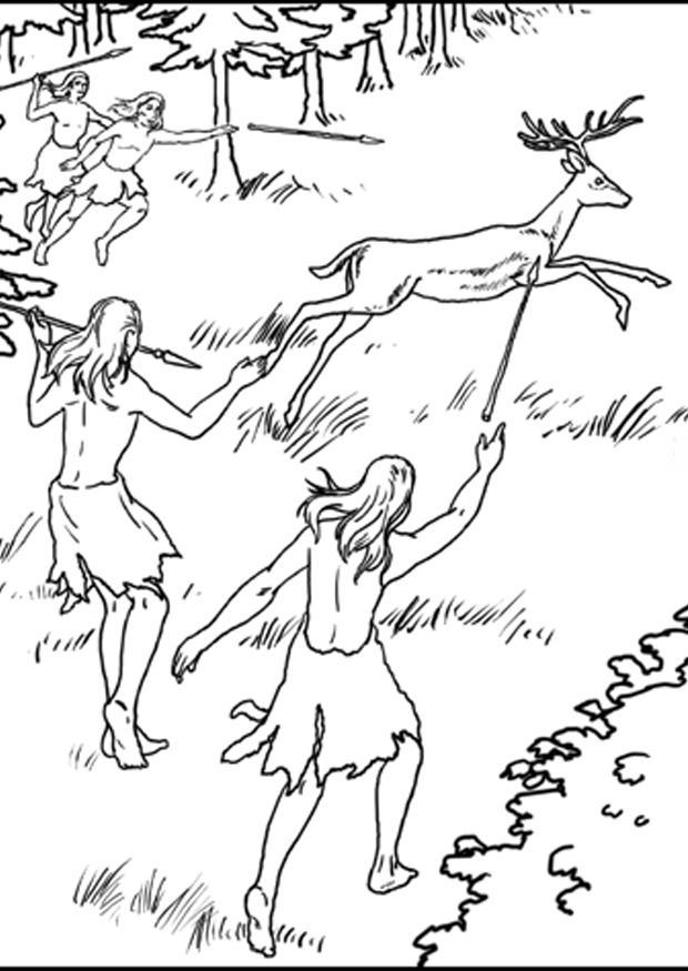 Dibujo para colorear 1a cazadores - Img 7631