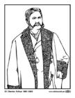 Dibujo para colorear 21 Chester Arthur