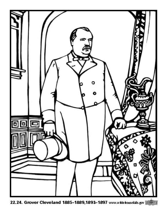 Dibujo para colorear 22 - 24 Grover Cleveland - Img 12636