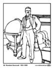 Dibujo para colorear 26 Theodore Roosevelt