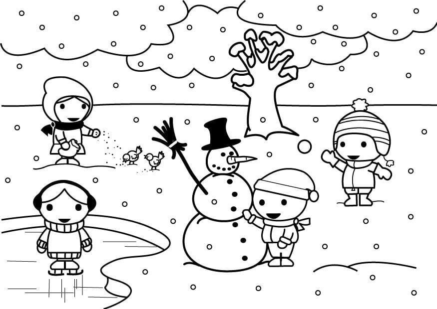 Dibujo Para Colorear 2b Invierno Dibujos Para Imprimir Gratis