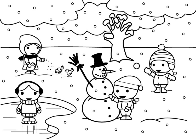 Dibujo para colorear 2b invierno   Img 26888