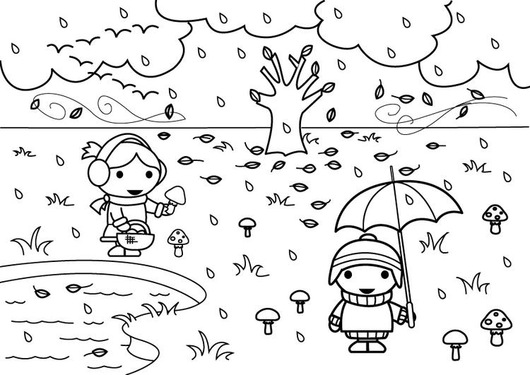 Dibujo para colorear 2b otoño - Img 26893