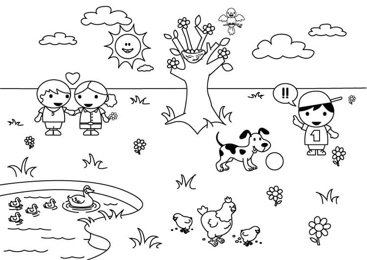 Dibujo para colorear 2b primavera - Img 26894