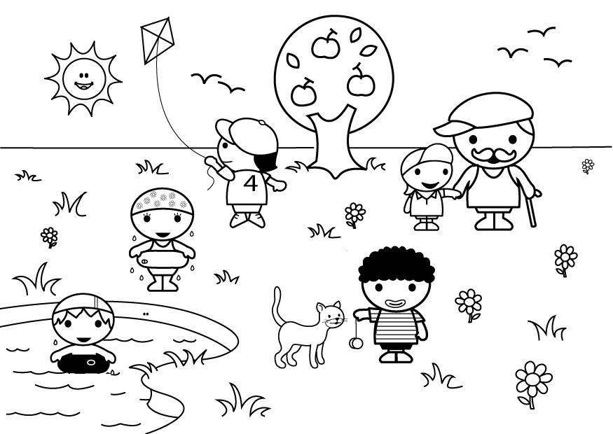 Único Dibujos Para Colorear Verano Festooning - Dibujos Para ...