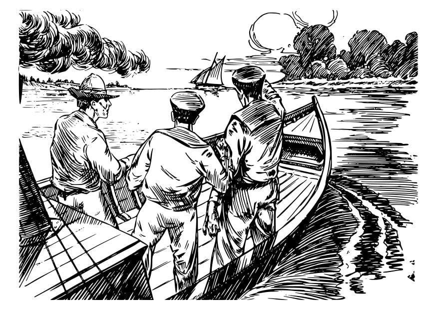 Dibujo Para Colorear 3 Hombres En Un Barco Dibujos Para Imprimir Gratis Img 25577