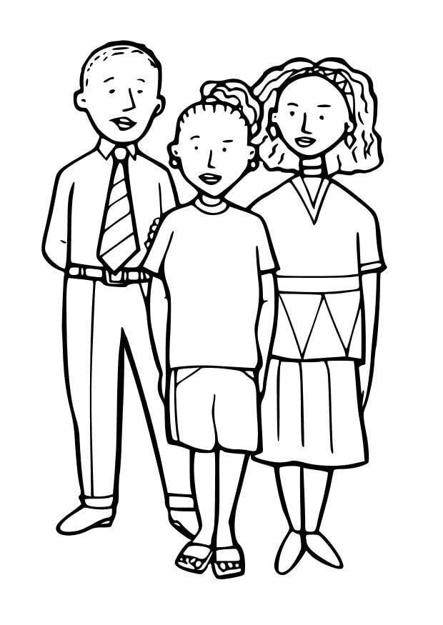 Dibujo para colorear 3 niños - Img 10251