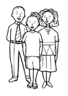 Dibujo para colorear 3 niños