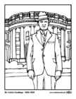 Dibujo para colorear 30 Calvin Coolidge