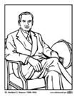 Dibujo para colorear 31 Herbert C. Hoover