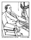 Dibujo para colorear 32 Franklin Delano Roosevelt