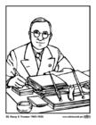 Dibujo para colorear 33 Harry S. Truman