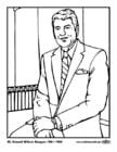 Dibujo para colorear 40 Ronald Wilson Reagan