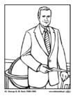 Dibujo para colorear 41 George H. W. Bush