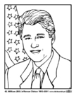 Dibujo para colorear 42 William (Bill) Jefferson Clinton