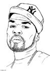 Dibujo para colorear 50 Cent