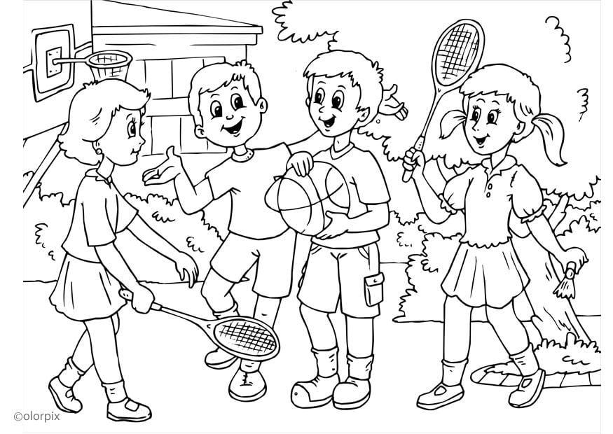 Dibujo para colorear a01 - amistad - Img 25905