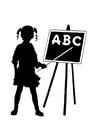 Dibujo para colorear ABC