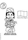 Dibujo para colorear Abebi de Nigeria