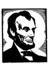 Dibujo para colorear Abraham Lincoln