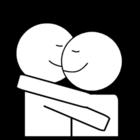 Dibujo para colorear Abrazo
